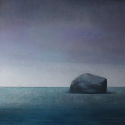 Bass Rock - Violet Sky by Claire Beattie