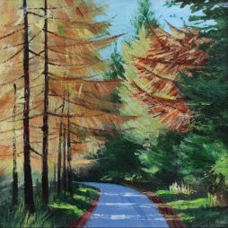 Autumn on the Castle Road by Alison Proudlock