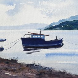 The Blue Boat,Kippford by Alison Proudlock