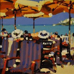 Yellow Parasols, Collioure II by Tom Watt