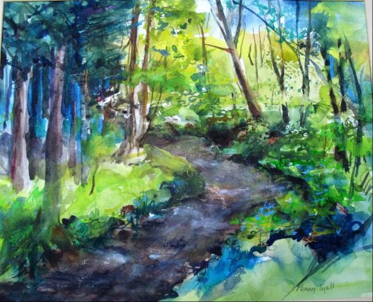 Stream & Summer Meadow by Penny Lyall