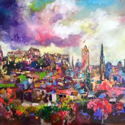 Edinburgh Skyline by Julie Dumbarton