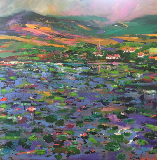Water Lily Village by Julie Dumbarton