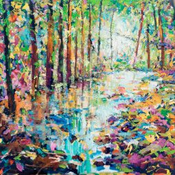 Woodland River by Julie Dumbarton