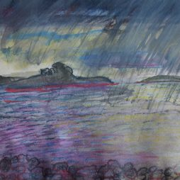 Storm (Sketch) Inchmarnock by Carol Taylor