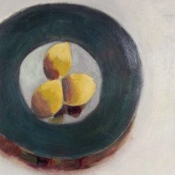 Black Bowl and Lemons by Shirley Pinder