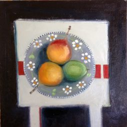 Turkish Plate and Fruit by Shirley Pinder