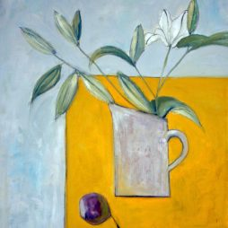 White Lilies and Fig by Shirley Pinder
