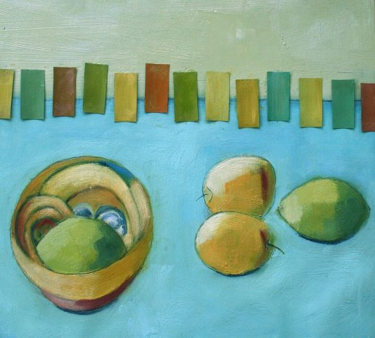 French Bowl and Plums by Shirley Pinder