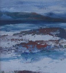 Towards Mull and Skye from Iona by Rona Lee