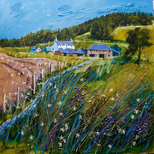 Wester Greenside near Abernethy by Deborah Phillip