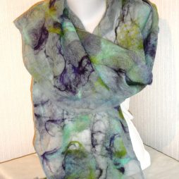 Hand felted scarf by Patricia Griffin