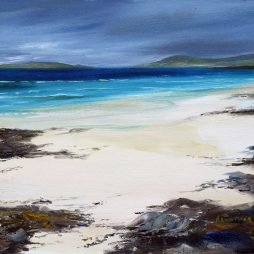Laden Skies over Taransay from Horgabost by Angel