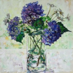 Purple and White by Amy Marshall