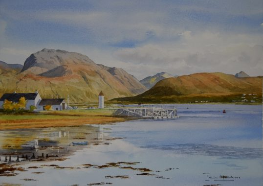 Ben Nevis from Corpach by Iain Harkess