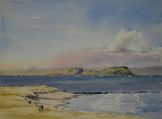 Fidra from North Berwick by Iain Harkess