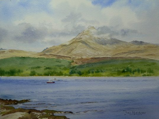 Goat Fell and Brodick Bay, Arran by Iain Harkess