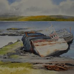 On the Beach, Mull by Iain Harkess