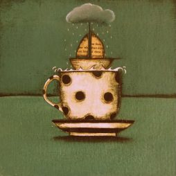 Storm in a Polka Dot Tea Cup by Jackie Henderson