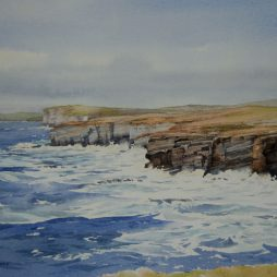 Stormy Seas at Marwick Head, Orkney by Iain Harkess
