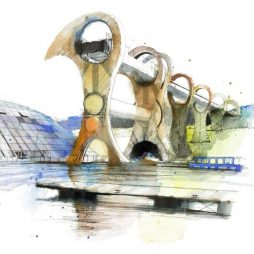Falkirk Wheel by Ian Fennelly