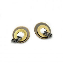Brass studs by Emma Thomson