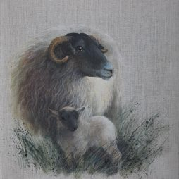 Ewe and Lamb by Helen Welsh