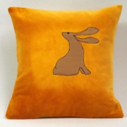 Hare cushion by Jo Gallant