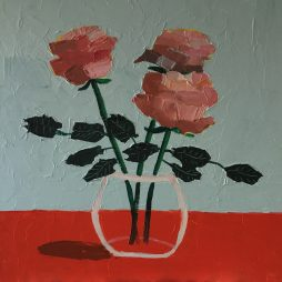 Peach Roses by Fiona Sturrock