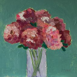Pink Peonies by Fiona Sturrock