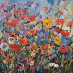 Poppies and Dandelions by Julie Dumbarton