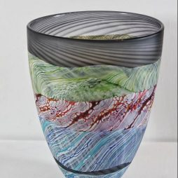 Sea shore-Stormy skies medium bowl by Thomas Petit