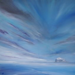 Soft Blue Sky, Bass Rock by Allison Young