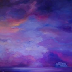 Violet Sky, Bass Rock by Allison Young