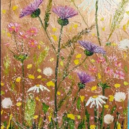 Thistle on copper by Elena Guillaumin