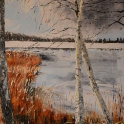 Birches, Lakes and the first Day of Spring by Jenny Wilson