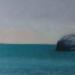 Bass Rock-Evening Sky by Claire Beattie
