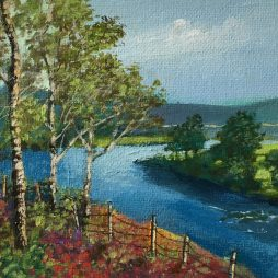 Birches by the Dee by Mags Donald