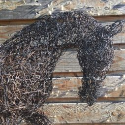 Black Wire Horse by Linda Lewin