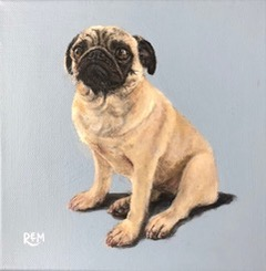 Pug by Rosemary Mark