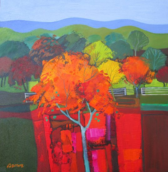 Red Orchard by Davy Brown