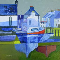 Boatyard by the Church by Davy Brown