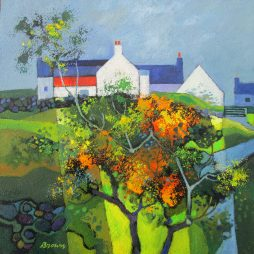 Farmhouse with Gorse by Davy Brown