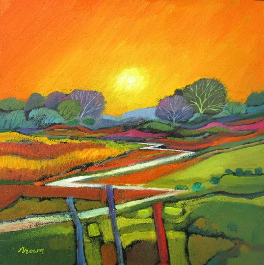 Sunset over the Glen by Davy Brown