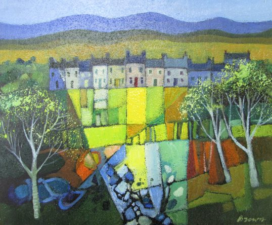Miners Cottages by Davy Brown
