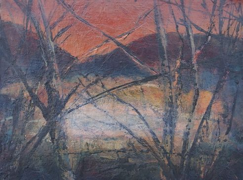 Evening LIght from Spoon Wood by Susan Mitchell