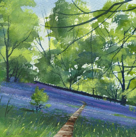 Bluebell Path by Alison Proudlock