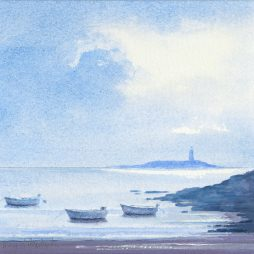 Boats near Kildonan by Alison Proudlock
