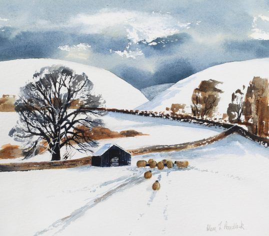 Snow on the hIlls by Alison Proudlock