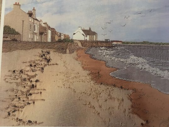 Beach at Elie by Jacque Wakely